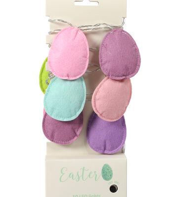 Easter Decor 10 ct Multicolor Eggs LED Strand Lights