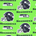 Seattle Seahawks Cotton Fabric -Green