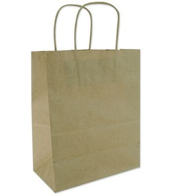 Tinted Kraft Bags X-Large W/Handle