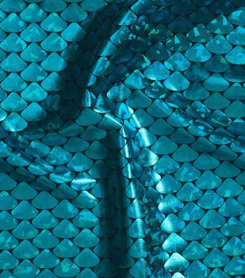 Yaya Han Cosplay Metallic Fabric 59''-Turquoise Scales