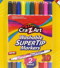 CraZart 10ct Washable Super Tip Markers Double Sided