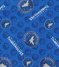 Minnesota Timberwolves Cotton Fabric 44\u0022-Logo Toss