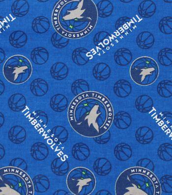 Minnesota Timberwolves Cotton Fabric -Logo Toss