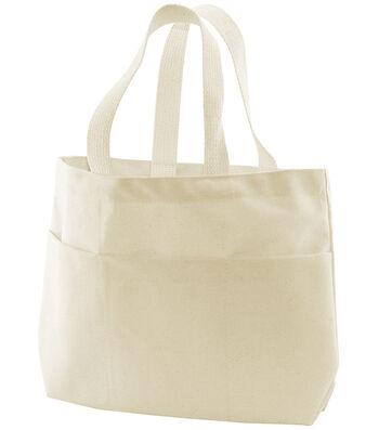 Bagworks Canvas Small Pocket Tote Bag-1PK/Natural