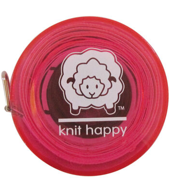 """Knit Happy Tape Measure 60""""-Pink"""