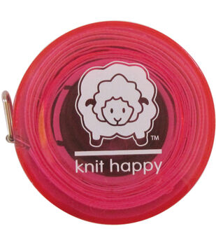 "Knit Happy Tape Measure 60""-Pink"