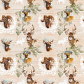 Novelty Cotton Fabric-Woodsy Deer
