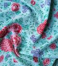 Stretch Chiffon Fabric 57\u0027\u0027-Green Floral Vines