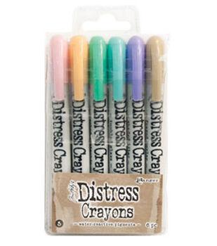 Tim Holtz Distress 6 Pack Crayon Set #5