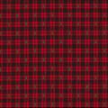 Christmas Cotton Fabric-Christmas Tree Red Plaid