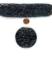 Blue Moon Strung Glass Seed Bead Hank,Hematite, , hi-res