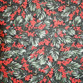 Christmas Cotton Fabric-Winter Holly Berries