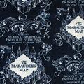 Harry Potter Fleece Fabric-Blue Marauders Map