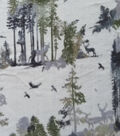 Anti-Pill Plush Fleece Fabric-Lodge Animals In Nature
