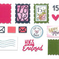 Sizzix Framelits Katelyn Lizardi Die & Stamp Set-Postage Stamps