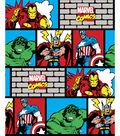 Marvel Comics Flannel Fabric 42\u0022-Retro Comic Bricks