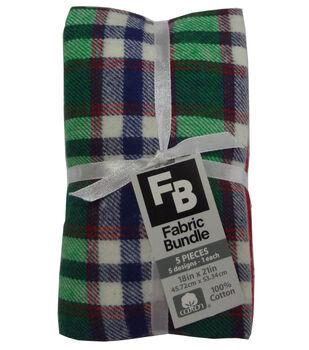 Fat Quarter Bundle Cotton Fabric 18''-Blue Plaid