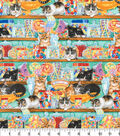 Novelty Cotton Fabric 44\u0022-Cats & Candy
