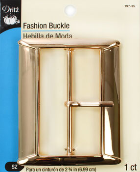 Dritz Fashion Buckle Gold  2 3/4""