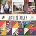 Park Lane 36 Pack 12\u0022x12\u0022 Premium Printed Cardstock Stack-Adventurer