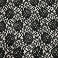 Stretch Lace Knit Fabric-Black
