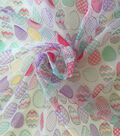 Spring Organza Fabric 31\u0022-Eggs Multi