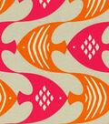 P/Kaufmann Outdoor Fabric 54\u0022-Ocean Current/Tiger Lily