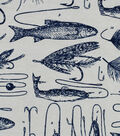 Snuggle Flannel Fabric 42\u0027\u0027-Fishing Hooks & Lines
