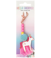 American Crafts Hello Dreamer Unicorn Charm, , hi-res