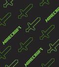 Minecraft Flannel Fabric-Swords