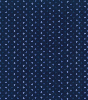 Keepsake Calico Cotton Blender Fabric -Blue Depths