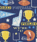 Snuggle Flannel Fabric -Football Terms