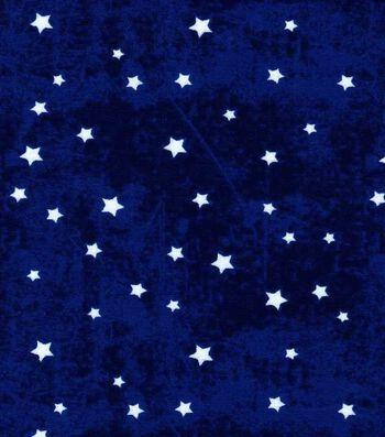 Nursery Cotton Fabric 43''-Stars on Navy