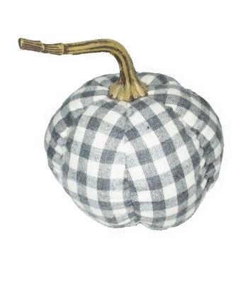 Simply Autumn Medium Pumpkin-Gray Plaid