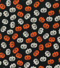 Halloween Cotton Fabric 43\u0022-Pumpkins Glow