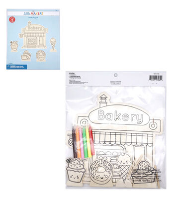 Little Makers Wood Coloring Kit-Bakery