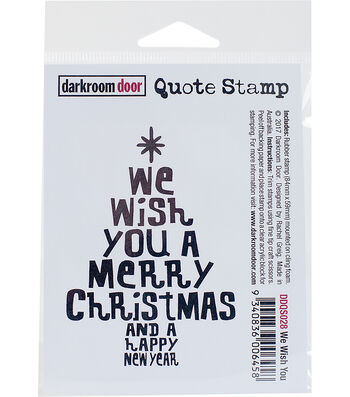 """Darkroom Door Quote Cling Stamp 3""""x2""""-We Wish You"""