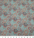 Quilter\u0027s Showcase Cotton Fabric-Lined Circles Coral Mint