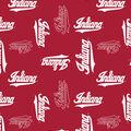 Indiana University Hoosiers Fleece Fabric -Digital