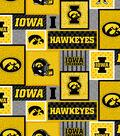 Iowa Hawkeyes Fleece Fabric-College Patch