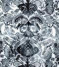 Snuggle Flannel Fabric -Gray Damask