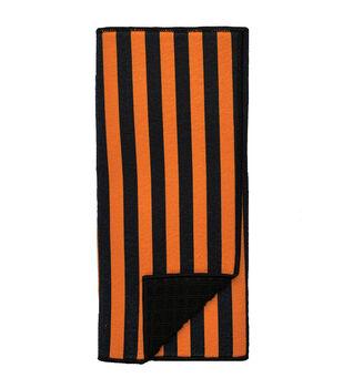 Maker's Halloween 15''x20'' Drying Mat-Black & Orange Stripes