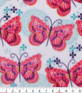 Anti-Pill Plush Fleece Fabric-Butterfly Geo