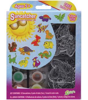 Suncatcher Group Activity Kit-Dinosaurs 12/Pkg