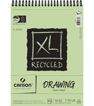 """Canson Recycled Drawing Paper Pad 9""""X12"""""""