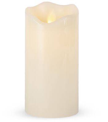 Hudson 43 3x6 Motion Flame LED Candle-Bisque