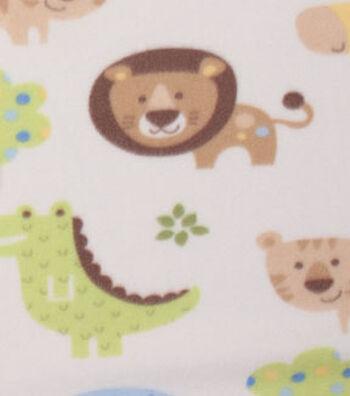 "Blizzard Fleece Fabric 59""-Young Safari Animals"