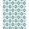 Nursery Cotton Fabric 43\u0027\u0027-Black & White Aztec on Mint