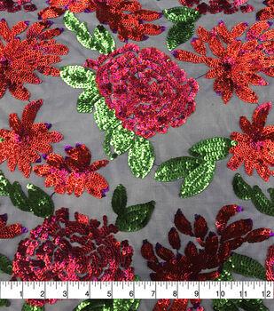 Casa Dahlia Mesh Fabric Large Sequin Rose
