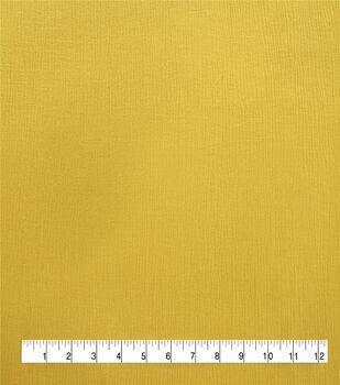 Silky Solids Crinkle Rayon Fabric-Mimosa